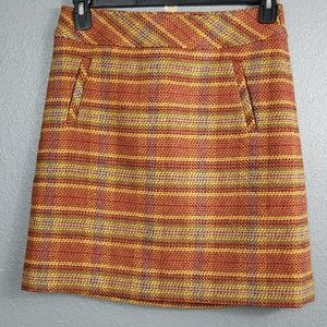 Talbots 2P Wool Plaid Skirt Fall Colors Lined New